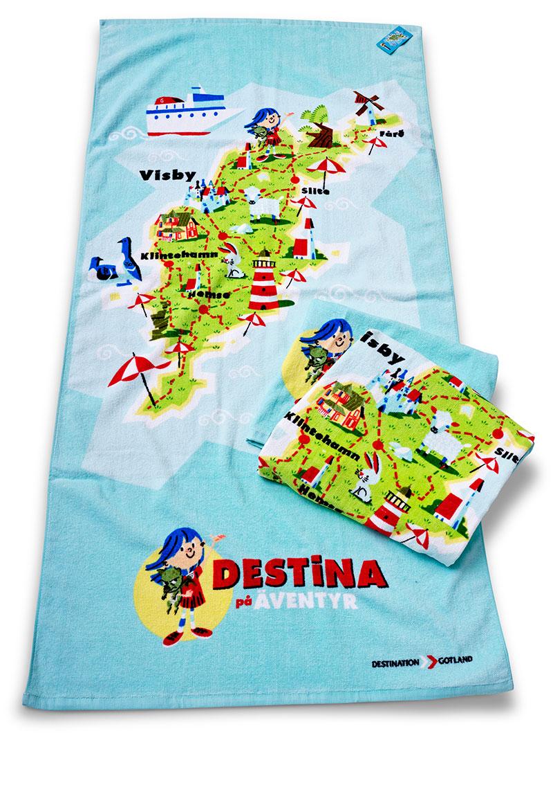 Merchandise - Handduk - Destination Gotland