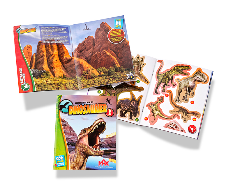 Promotion - Bok - Dinosaurier - Max